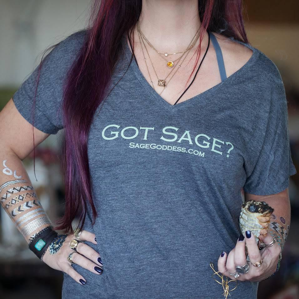 got sage v neck