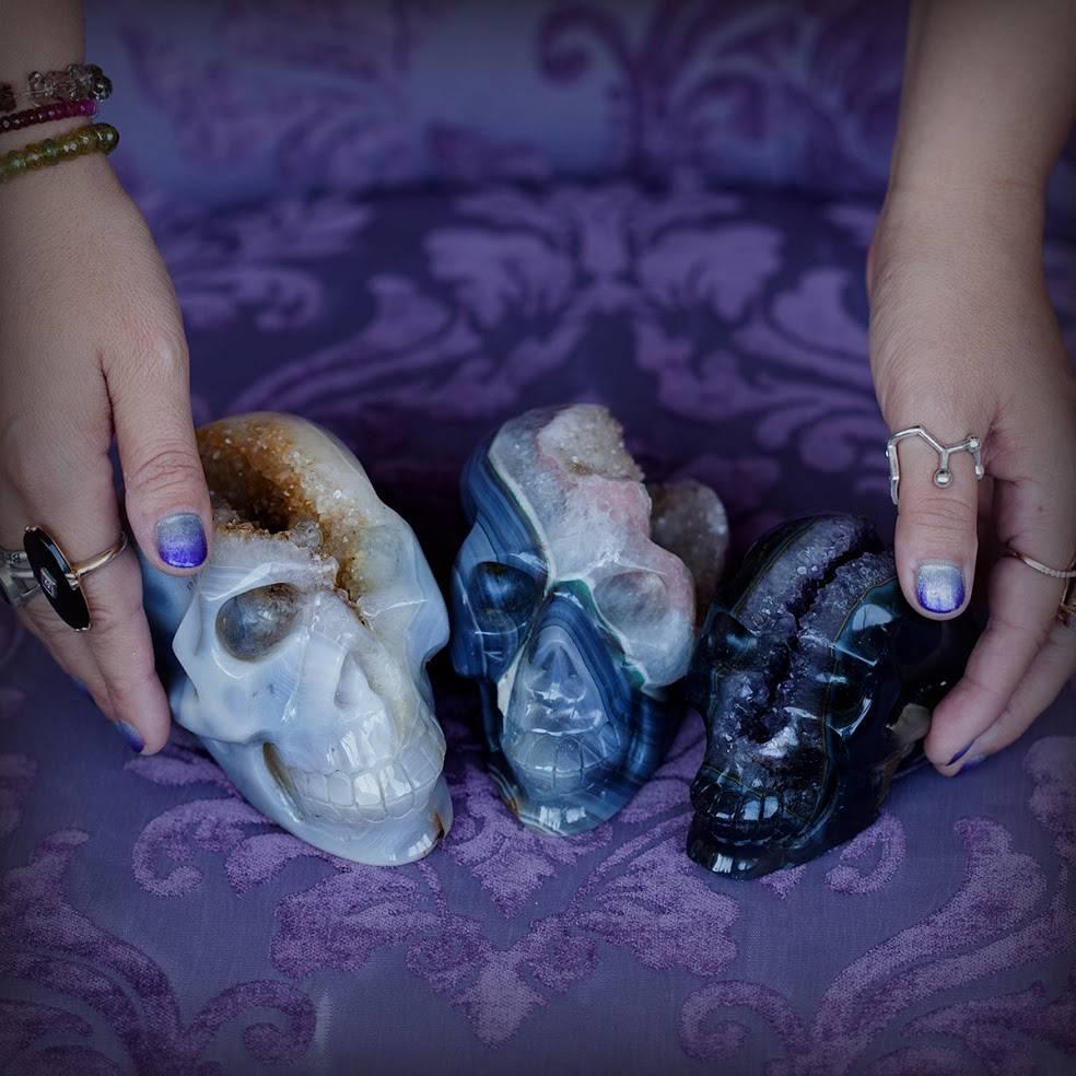 Druzy Geode Skull