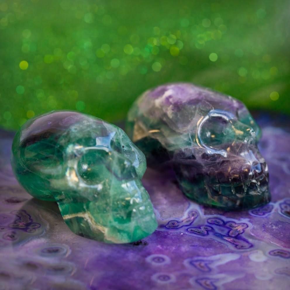 Fluorite Alien Skull