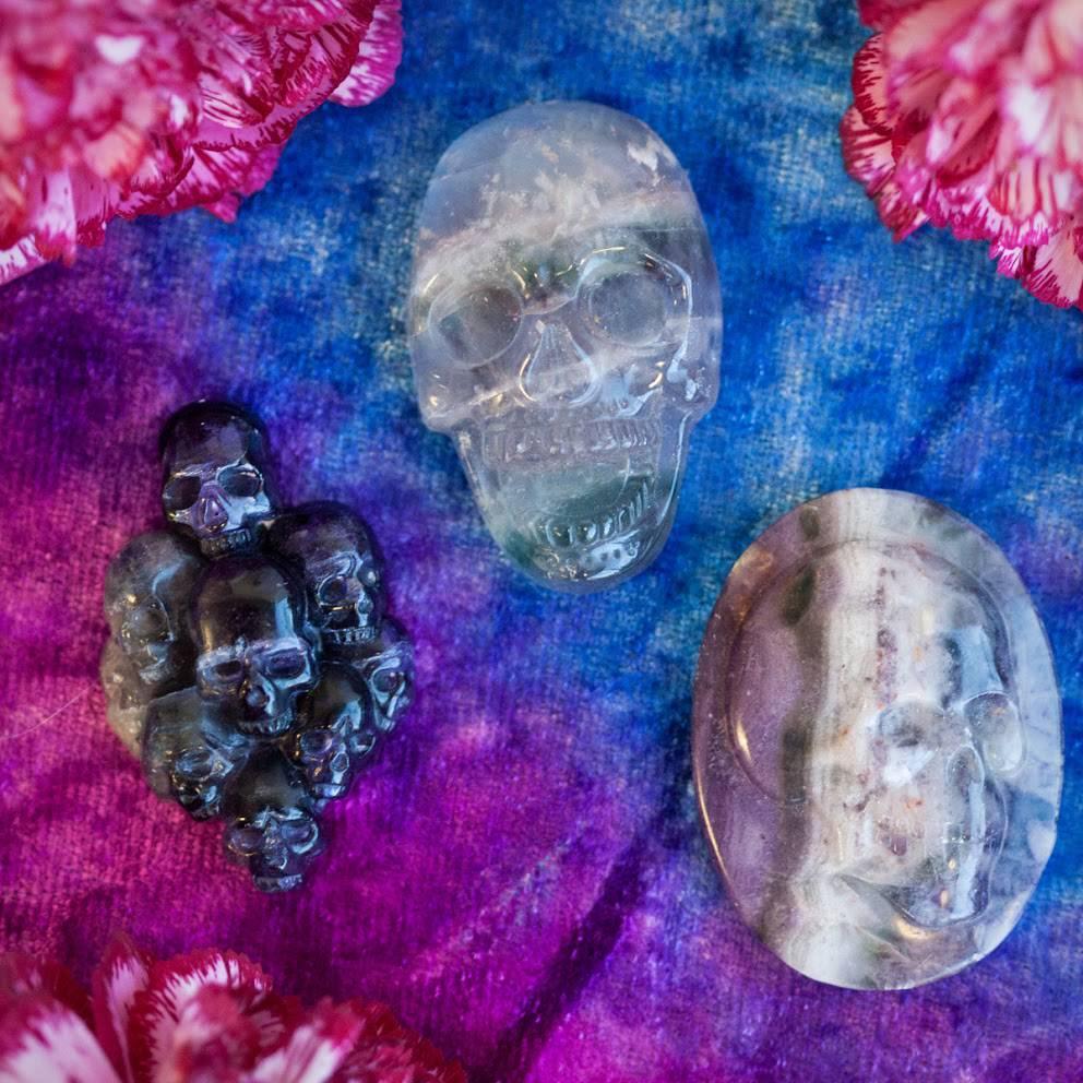 Intuitive Fluorite Skull Cabochon