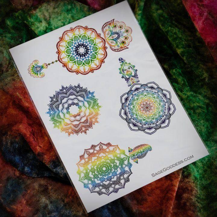 Rainbow Mandala Tattoo