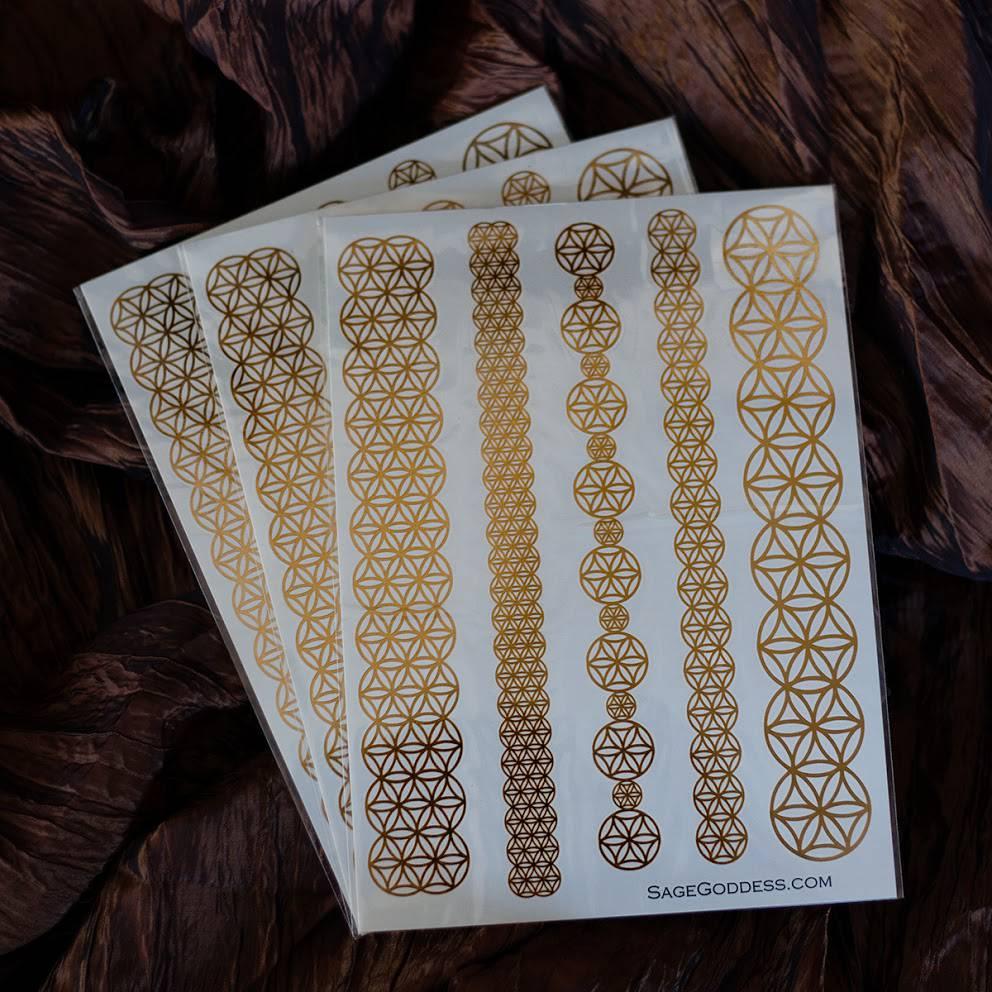 Sacred Geometry Metallic Bracelet Tattoo