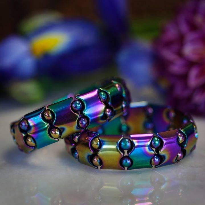 Titanium Hematite Bracelet