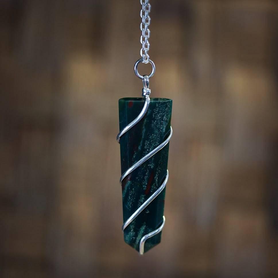 Bloodstone Wire Wrap pendant