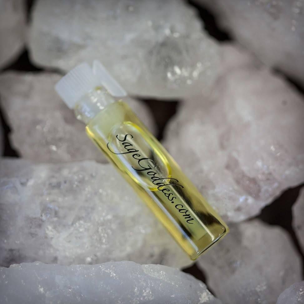 Natural Morganite with Immortal Perfume Sample