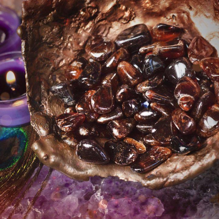 Tumbled Hessonite Garnet