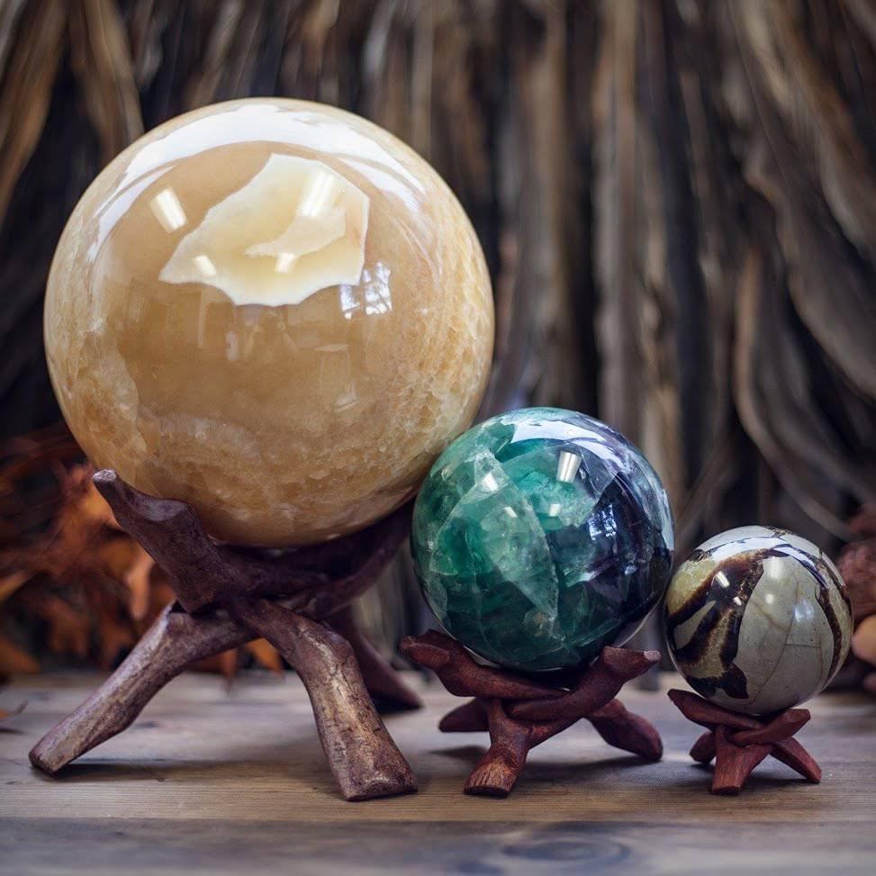 Wooden Sphere Stands