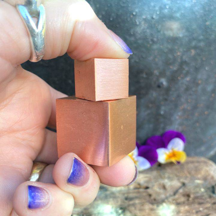 Vitality and Energy Copper Cubes