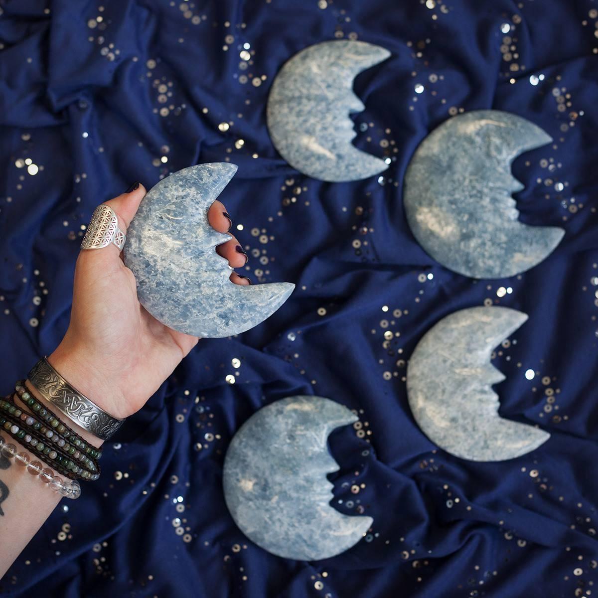 Blue Calcite Crescent Moon 3_17