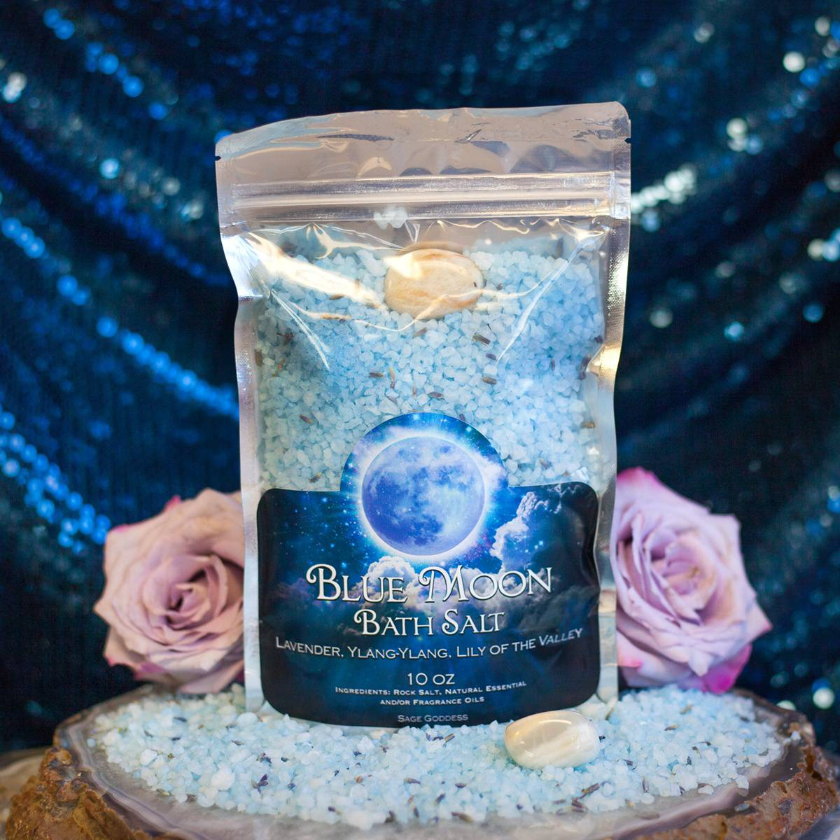 Blue Moon Bath Salts in honor of January's Super Blue Moon