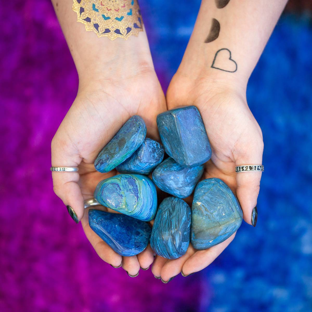 Large Tumbled Azurite for powerful Third Eye opening and unleashing your  inner priestess