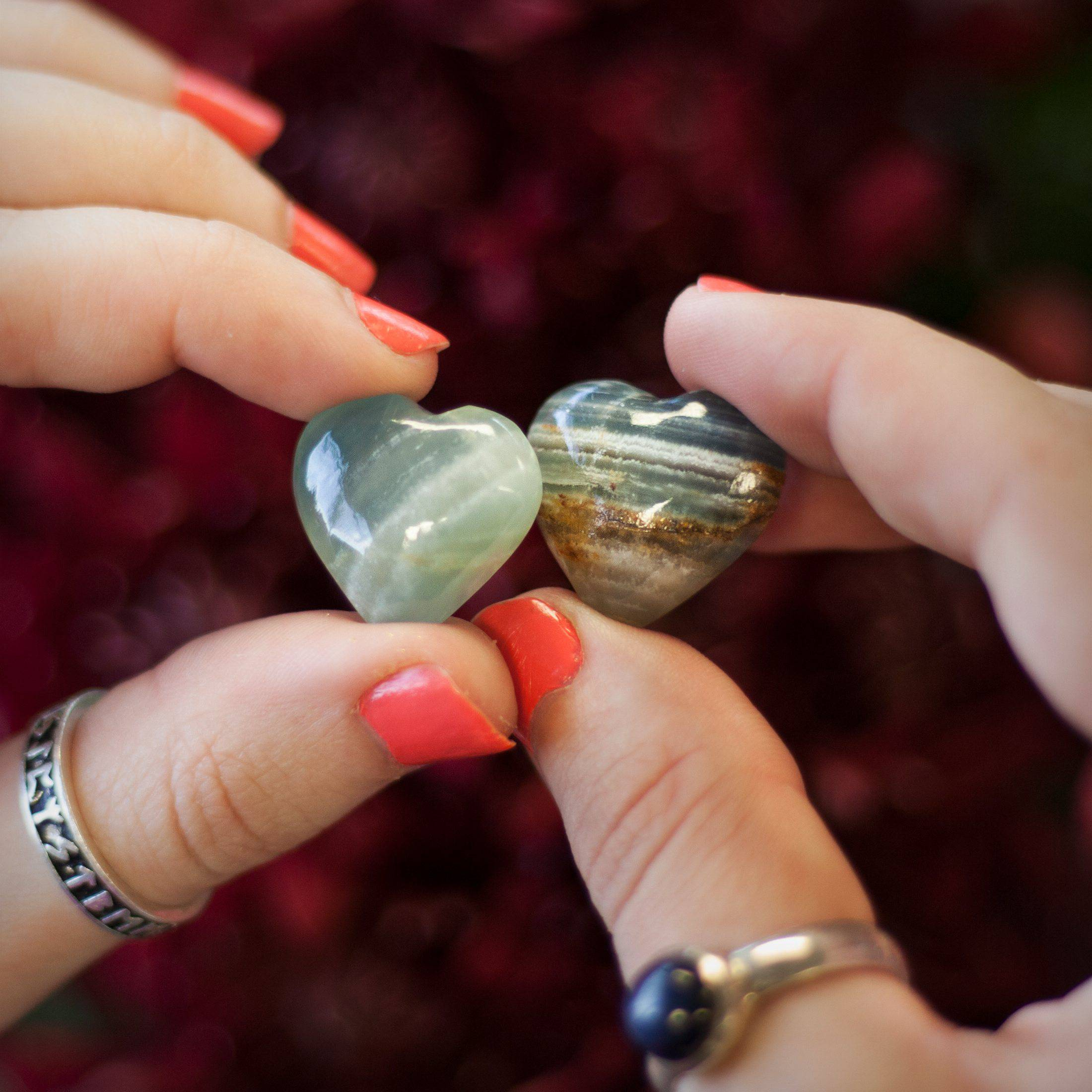 Pair of Lemurian Blue Onyx Hearts 2_1
