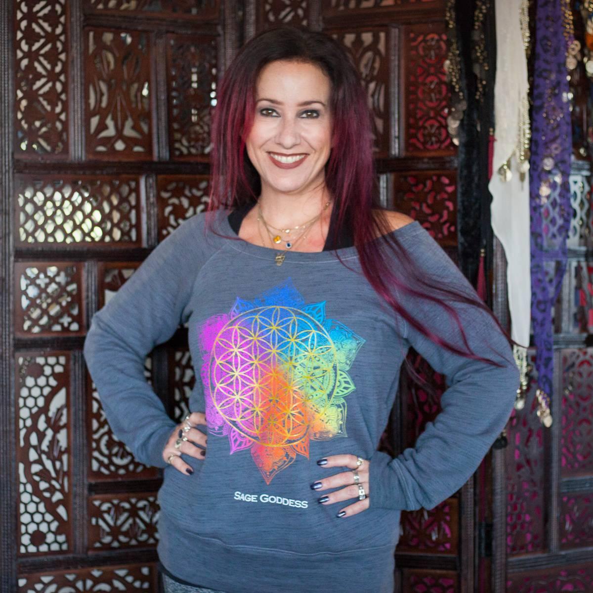 Rainbow Flower of Life Sweatshirt 1_5