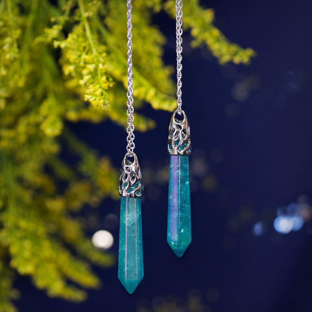 Aqua aura drop pendants for channeling the spiritual realms aqua aura drop pendant 26 aloadofball Choice Image