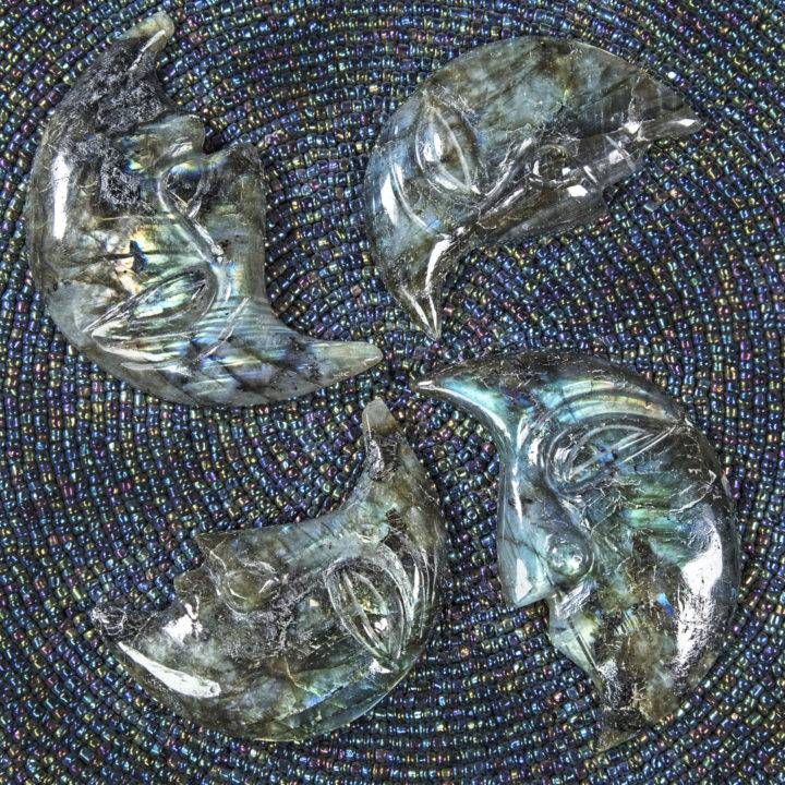 Labradorite Crescent Moon