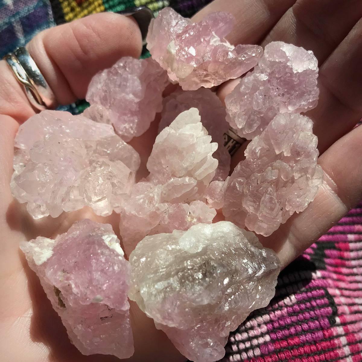 Natural Rose Quartz Elestial Crystals DD 2_5