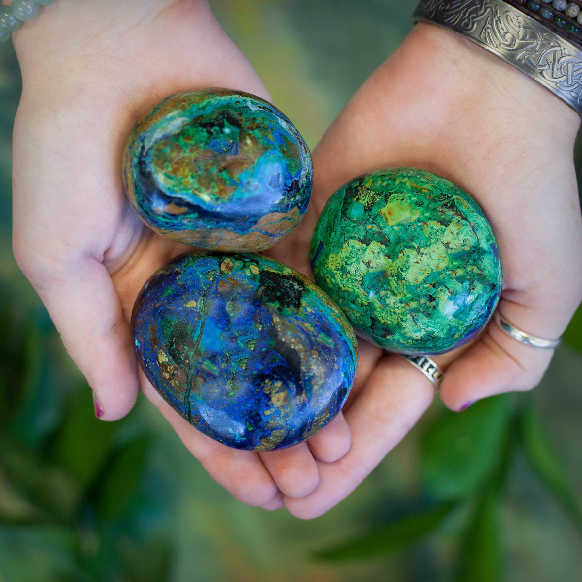 Azurite and Malachite Palm Stone DD 3_2