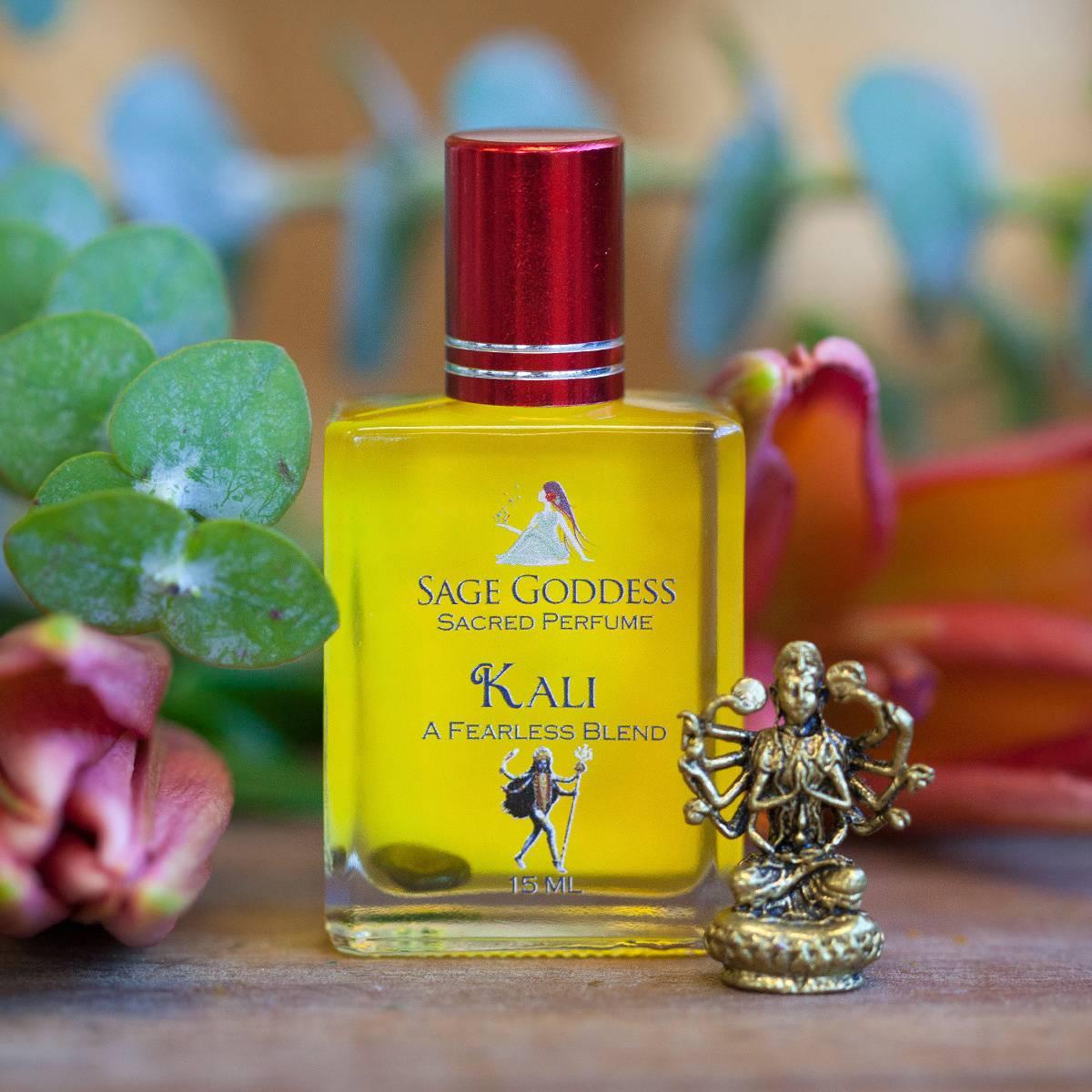 Kali Perfume with Mini Brass Kali Statue 3_3
