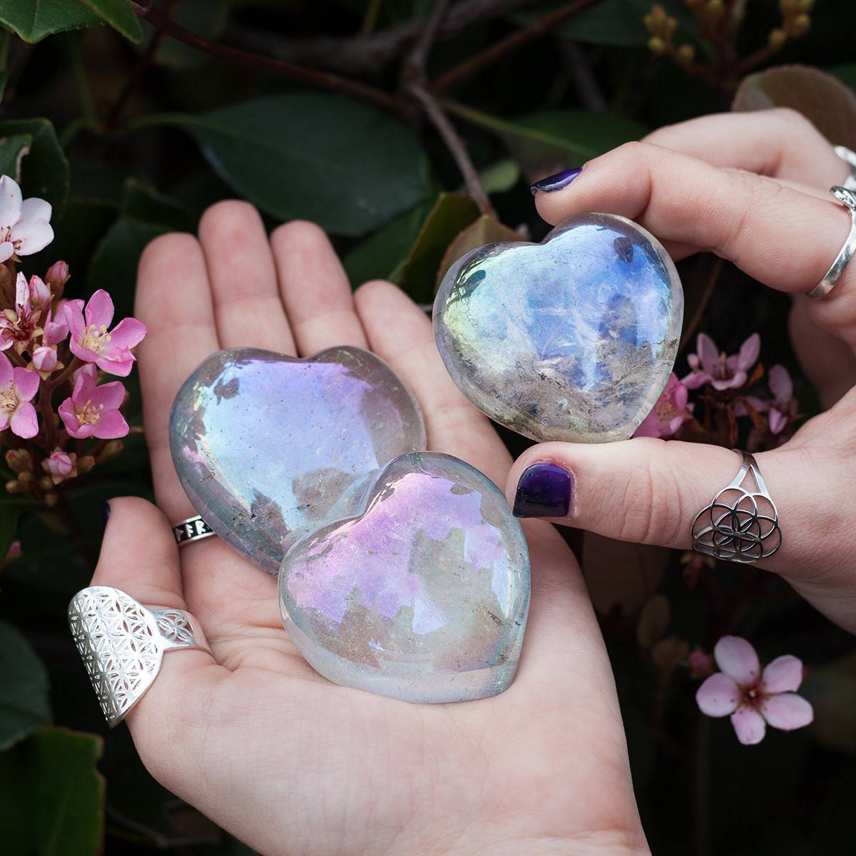 Opal Aura Quartz Heart 3_24