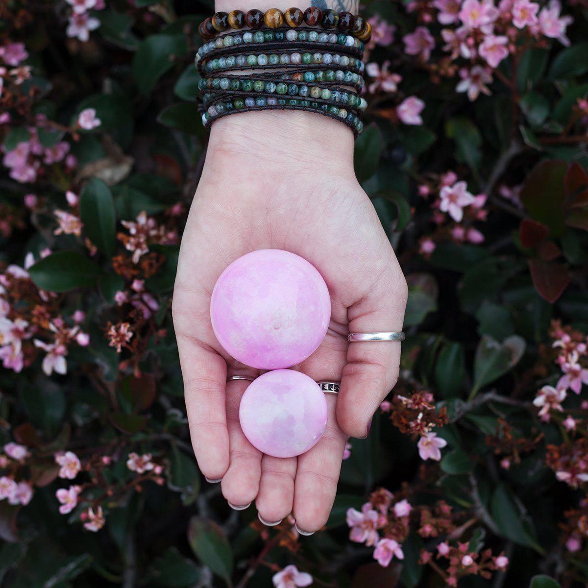 Pink Aragonite Spheres 3_10