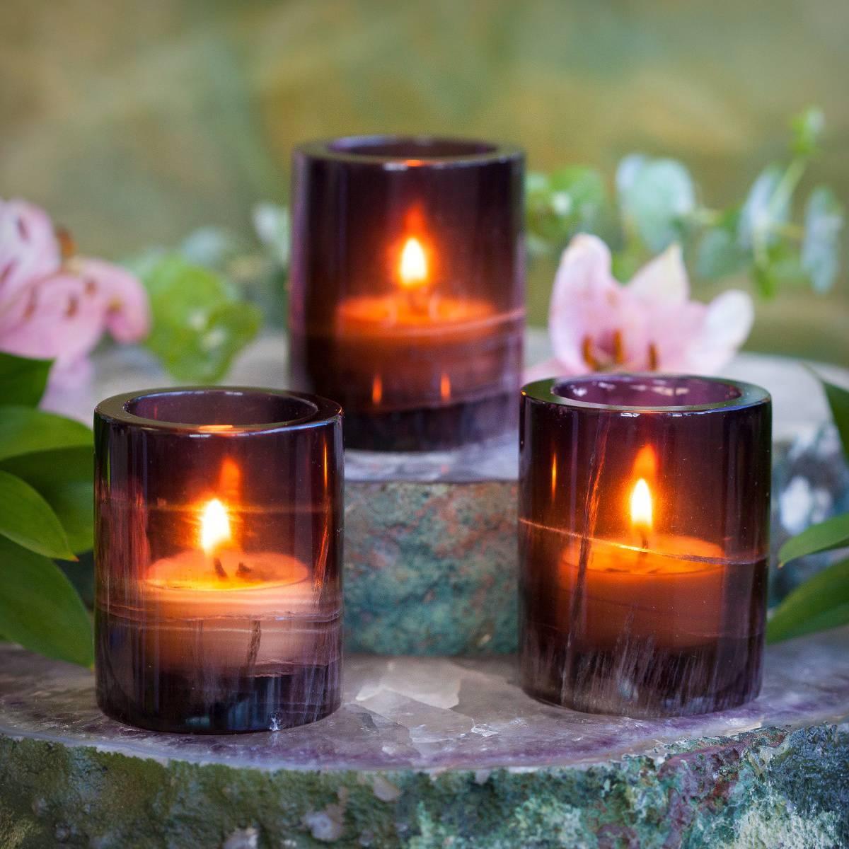 Purple Fluorite Tealight Holders 3_2
