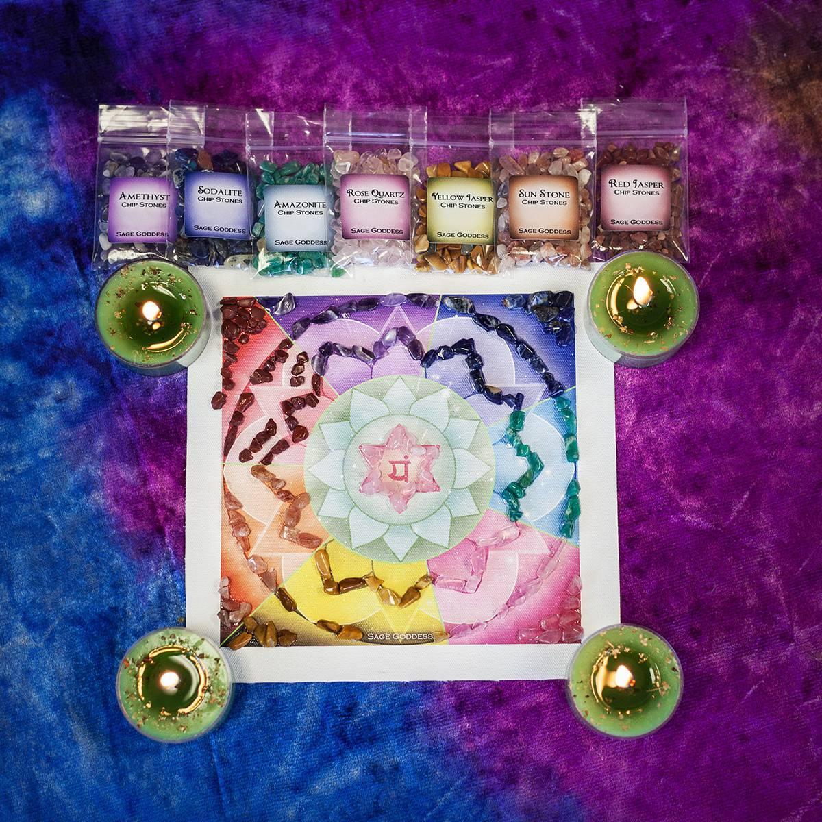 Meditative Anahata Canvas Set 4_26 secondary