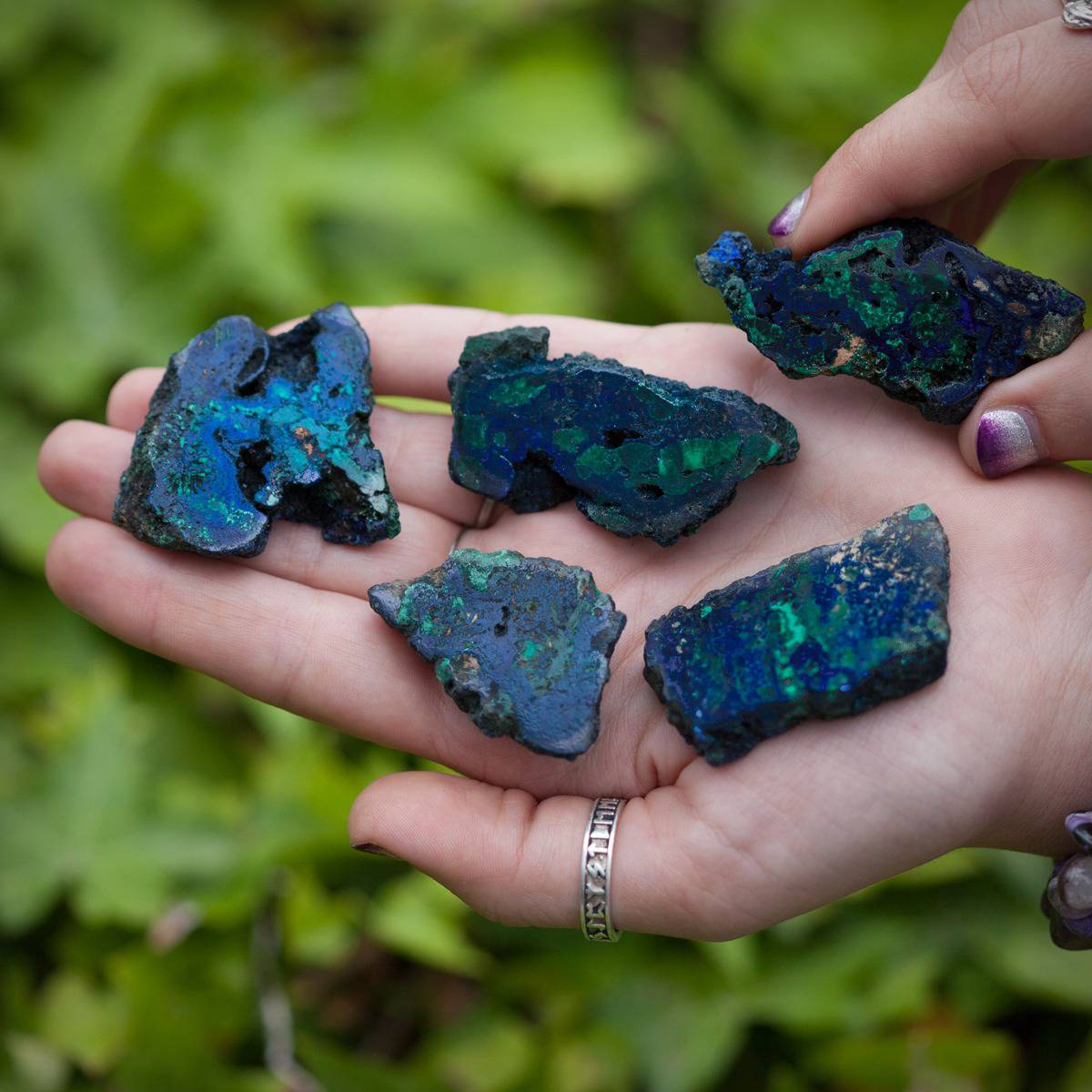 Azurite with Malachite Charging Plate DD 5_31 Primary
