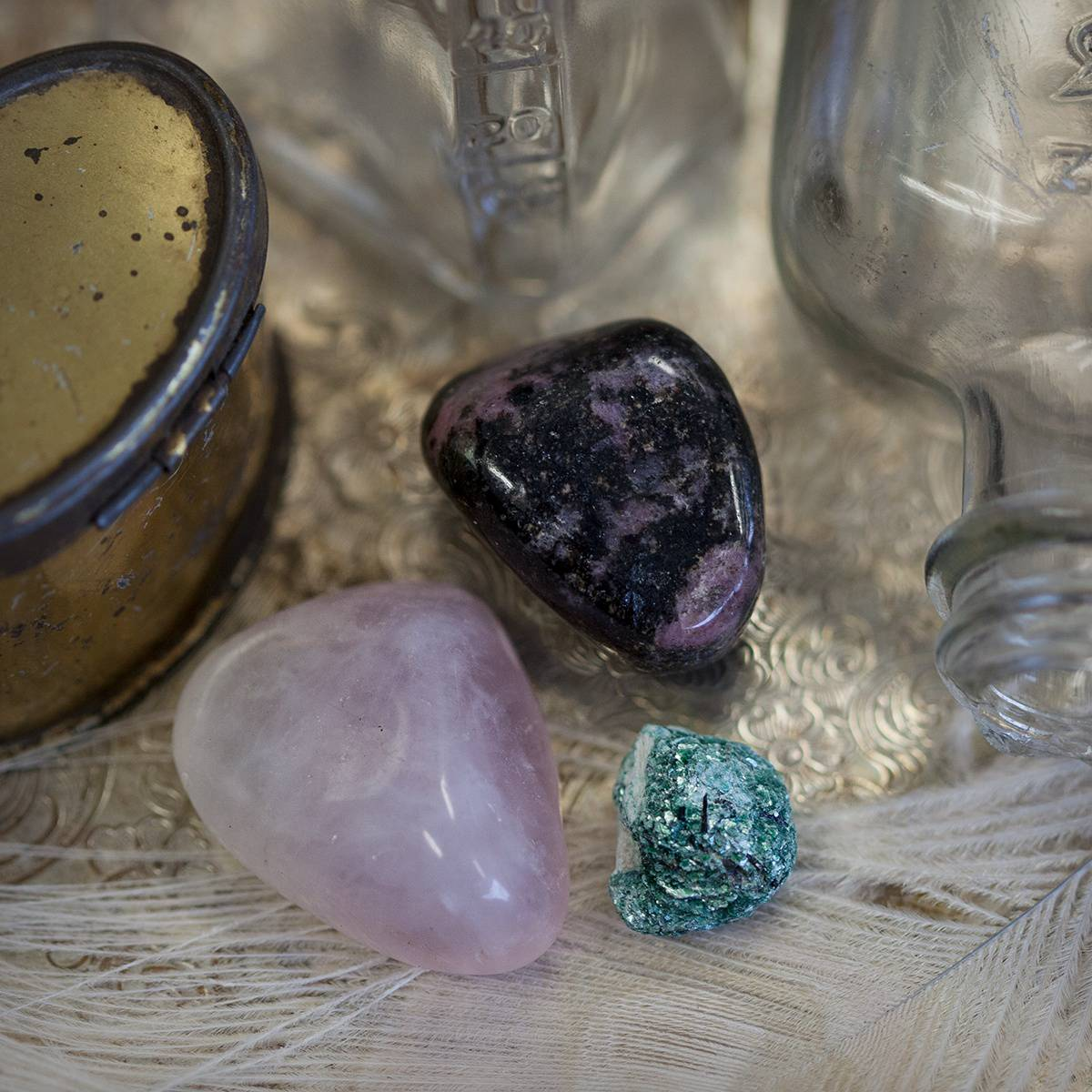 Gem RX- Sage Goddess Gem Stone Prescription Trio for Heart Healing 5_28