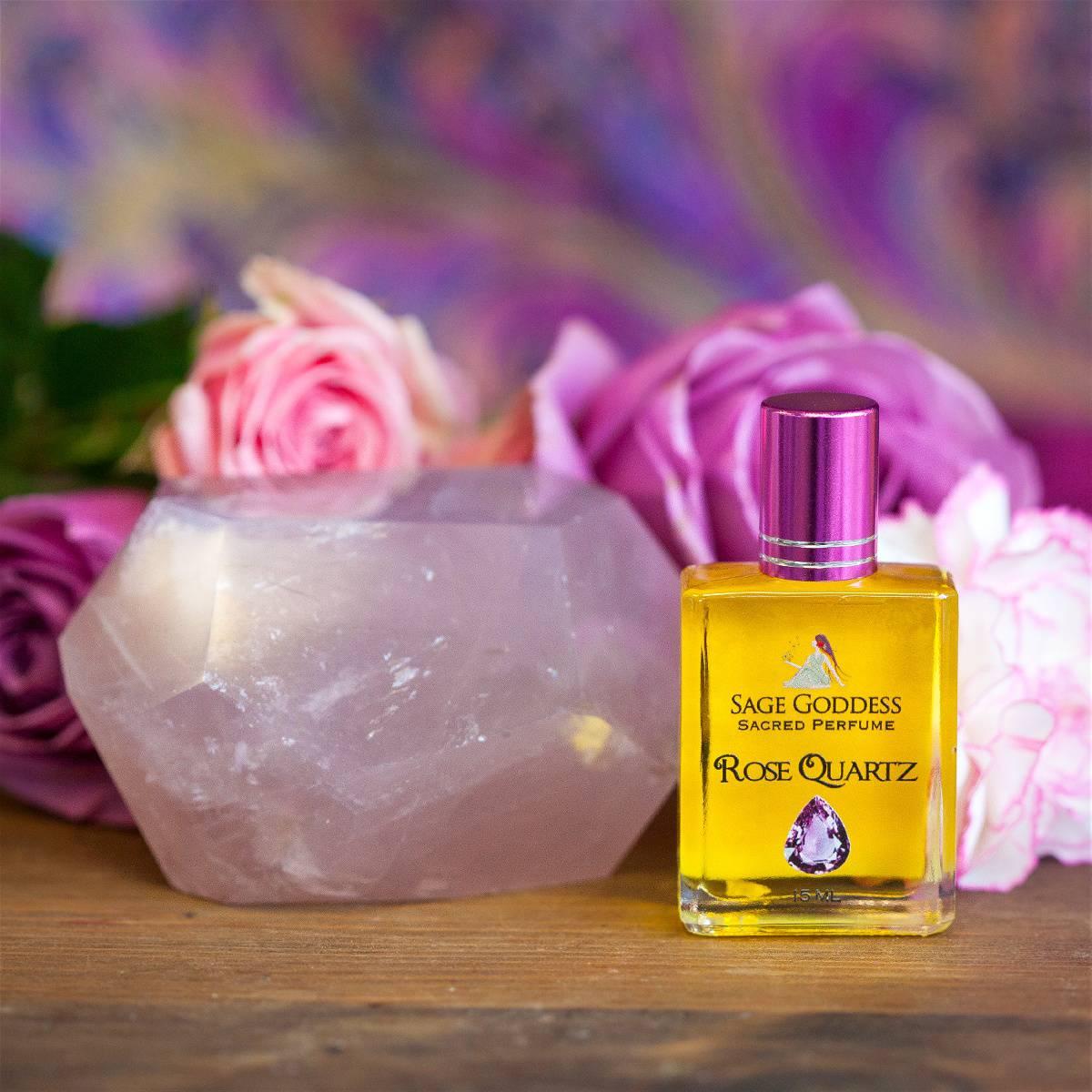 Gemmy Faceted Rose Quartz Power Stone with free Rose Quartz Perfume 5_8