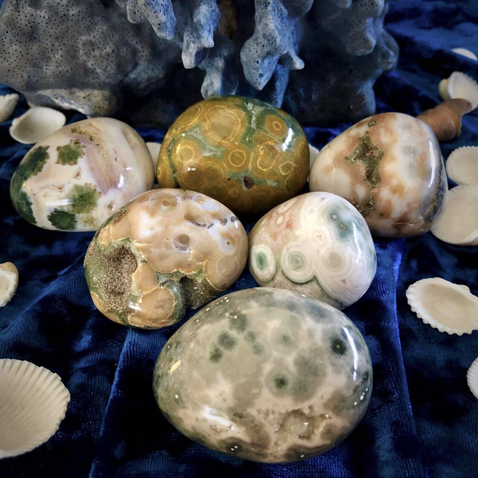Joy Healing Stone happiness Freeform relaxation peace Ocean Jasper