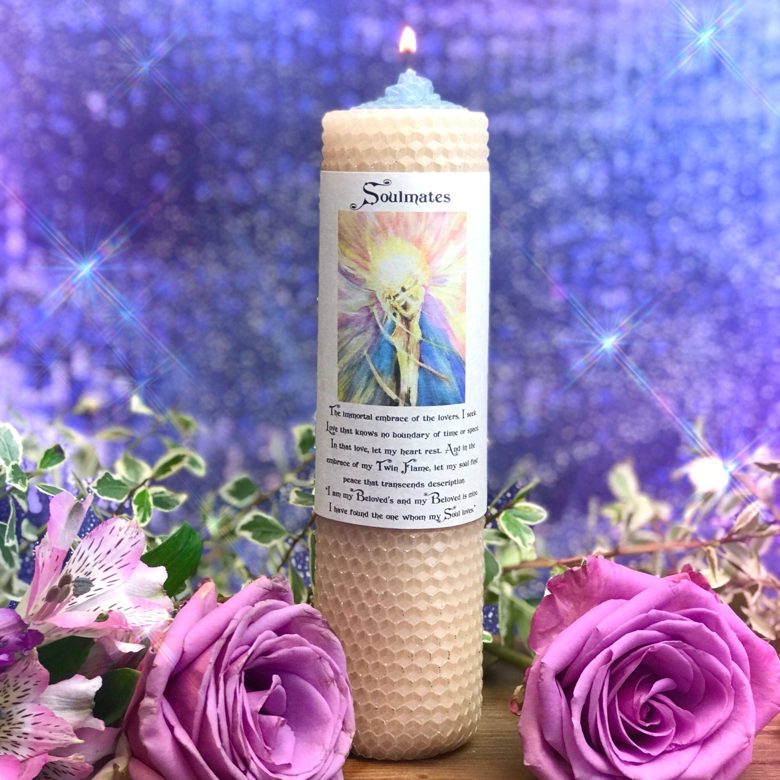 Soulmates Beeswax Intention Candles