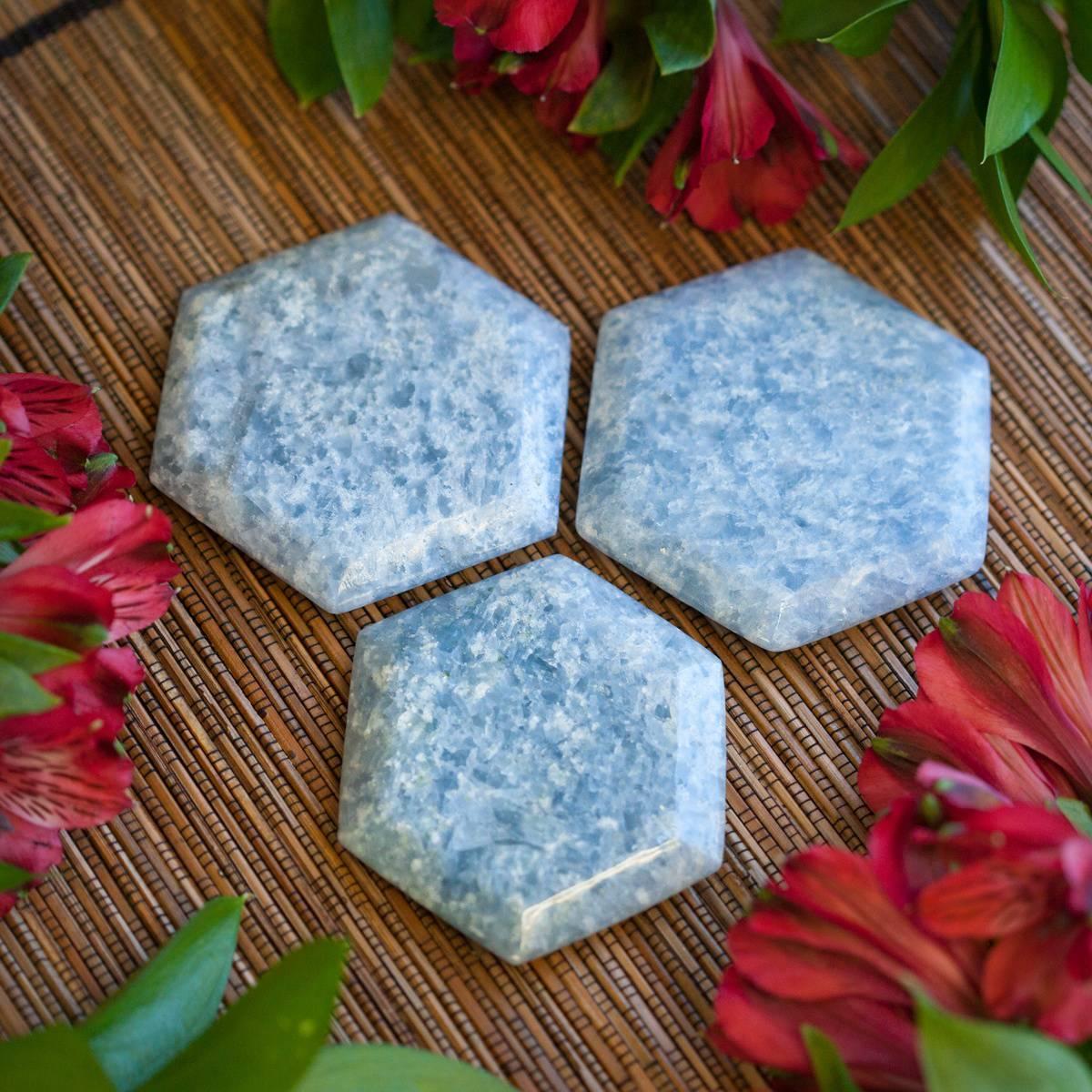 Blue Calcite Hexagon 6_20 Primary