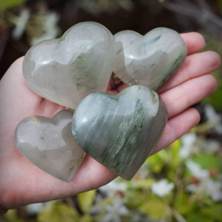 Chlorite In Quartz Heart with Master Healer Perfume DD 6_6 third
