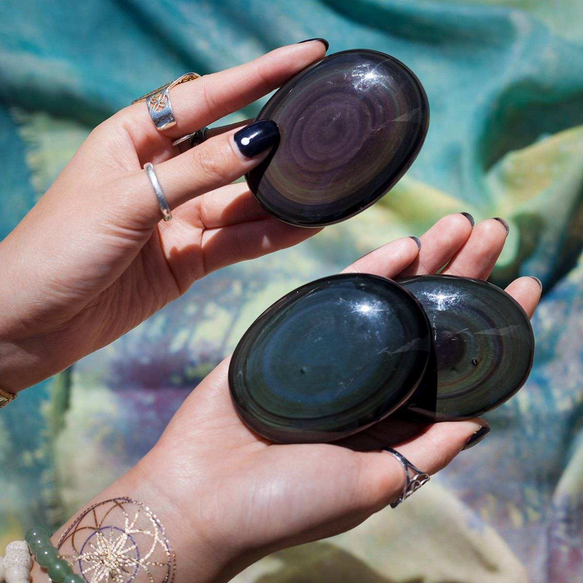 Rainbow Obsidian Scanning Palm Stone 6_3 Featured