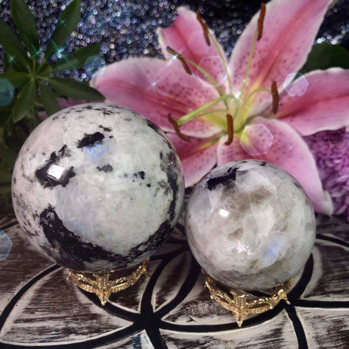Rainbow_Moonstone_Spheres_with_Gold_Crown_Sphere_Stand_1of4_6_12