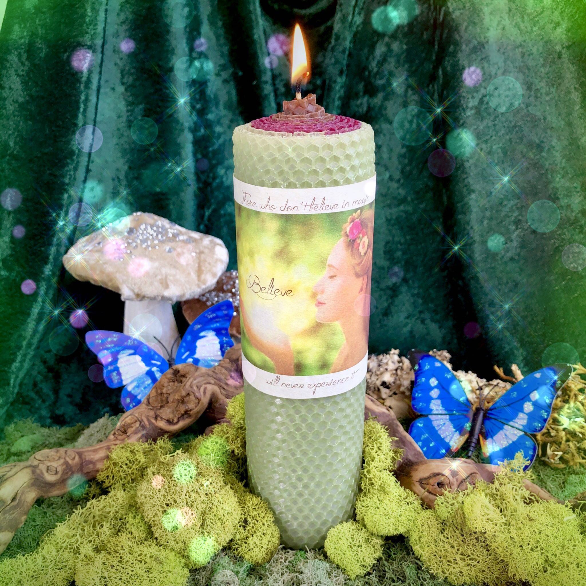 Believe in Magic Candle for manifesting what you desire