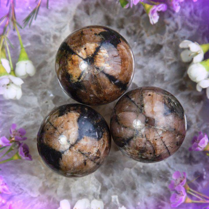 Chiastolite Peace and Protection Spheres
