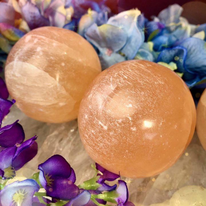 Orange Selenite Sexy Time Spheres