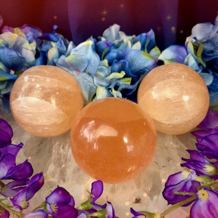 Orange Selenite Sexy Time Spheres