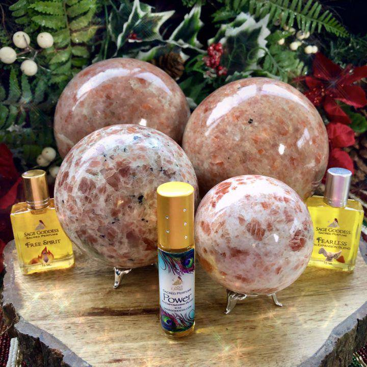 Large_Empowerment_Sunstone_Spheres with_intuitively_selected_power_perfume_DD_1of3_11_22.