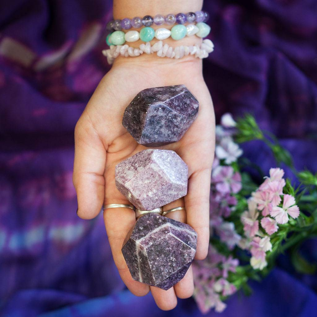 Lepidolite Channeling Stones 6_6 featured
