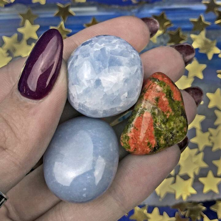 Moon Phase Gemstone Trio: Waning Gibbous