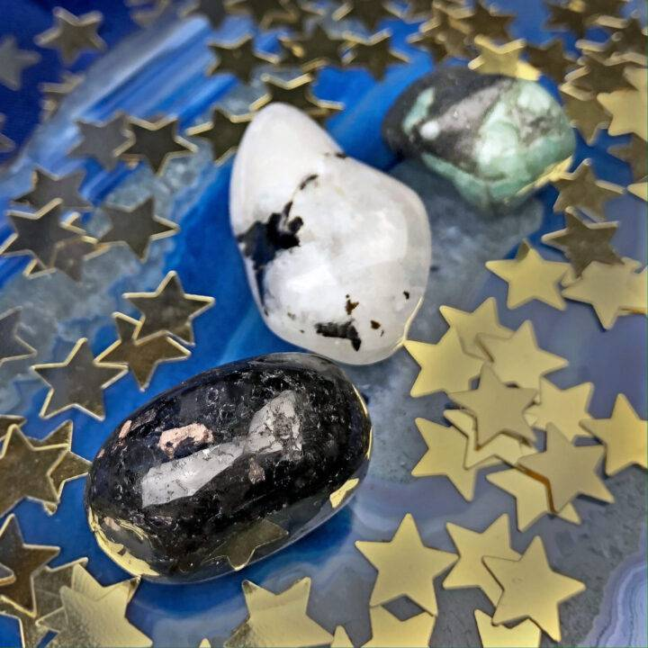 Moon Phase Gemstone Trio: Waxing Crescent