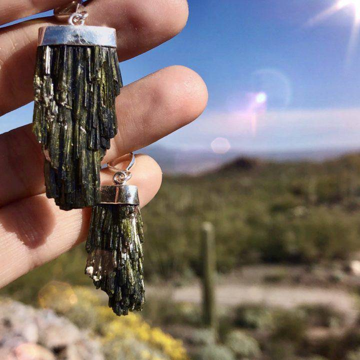 Tucson_Find_Green_Epidote_Pendants _DD_1of2.
