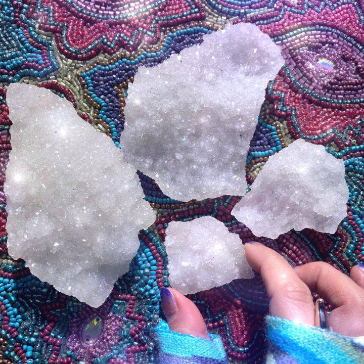 Spiritual Awareness White Apophyllite Crystal Clusters