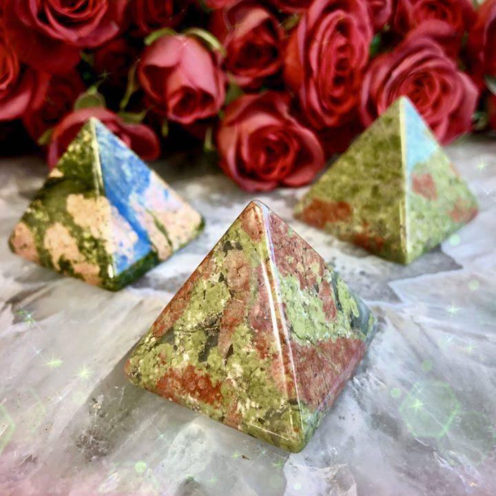 Love_and_Kindness_Unakite_Jasper_Pyramids_1of3_3_19