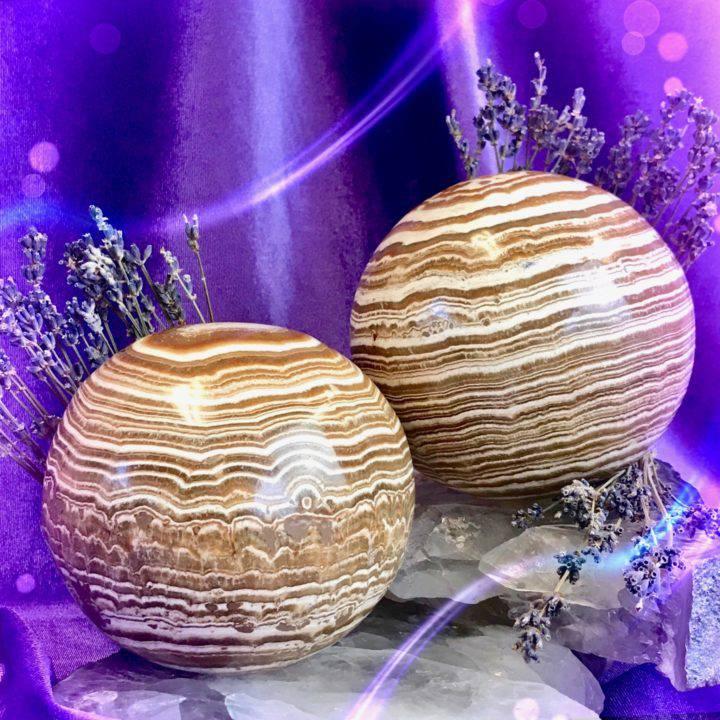 Centering _ Stress Relief Brown Aragonite Spheres_8_3_1of2