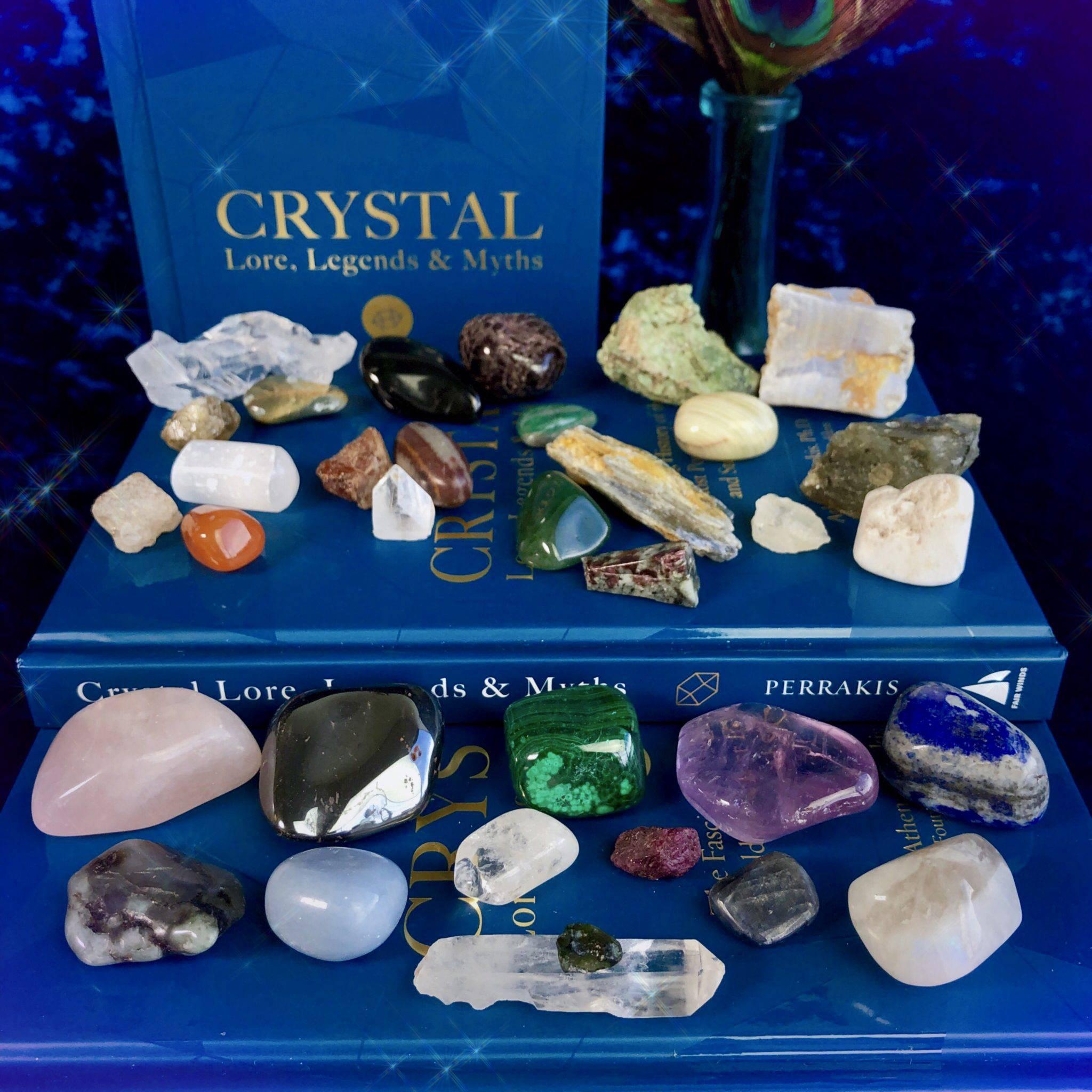 Crystal Healing magical -fem Spirituality shaman talisman Reiki Love- Heart MOTHERS DAY SALE Blue Lace Agate /& Blue Topaz pendant