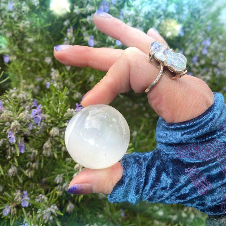 Full Moon Magic Selenite Spheres
