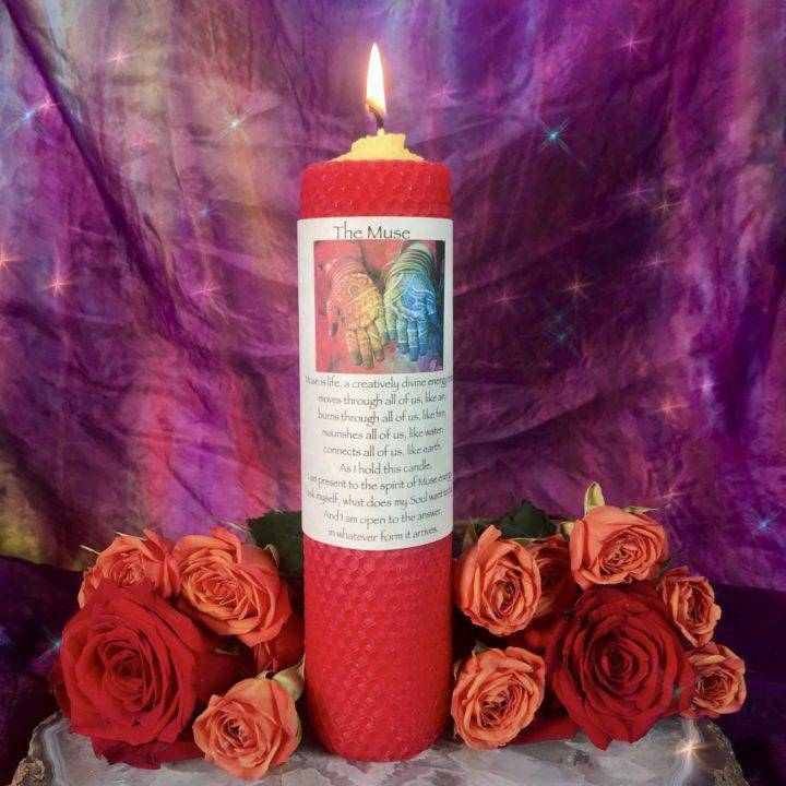 The Muse Beeswax Intention Candle